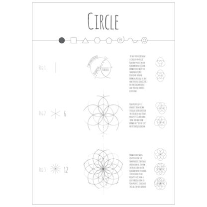 Intuitive Geometry A2 Posters - Circle