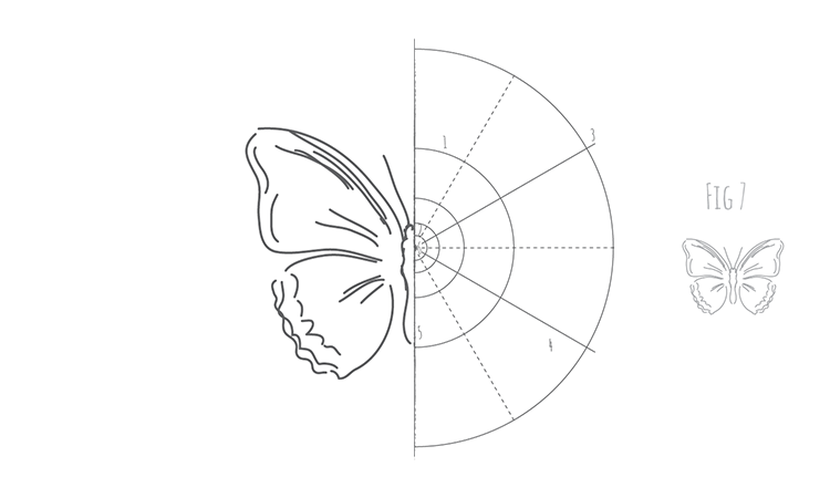 How to draw a butterfly Fig 7