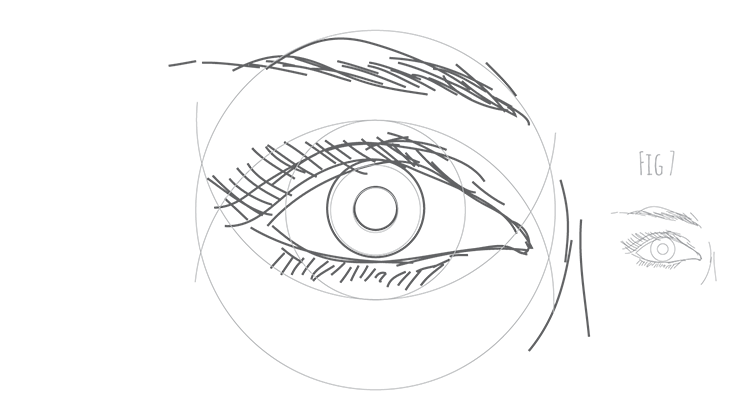 How to draw a human eye Fig 7