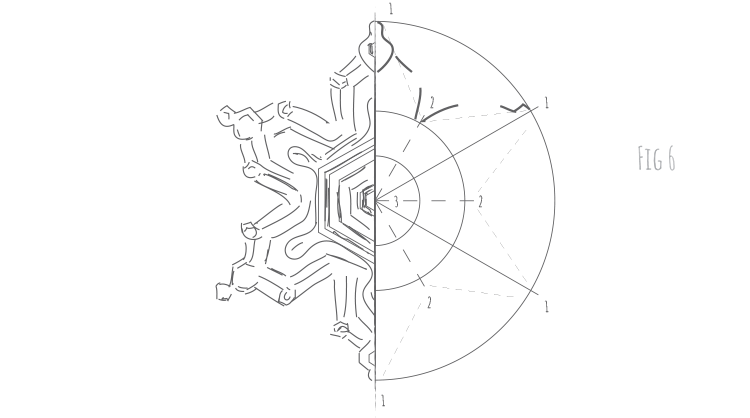 Intuitive Geometry - How to draw any snowflake - Fig 6