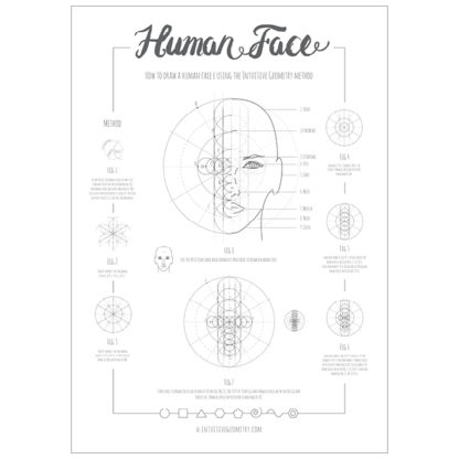How to draw a human face Poster product image