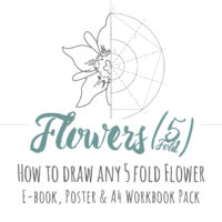 Flower (5 fold) Drawing Inspiration Pack