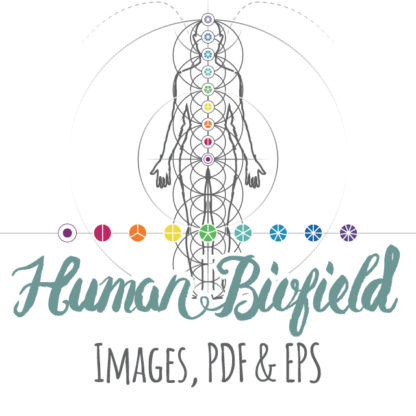 Human Biofield Product: Images, PDF and EPS