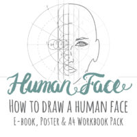 Human Face Drawing Inspiration Pack