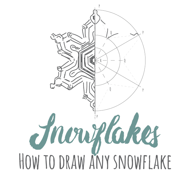 How to draw any snowflake instructions link