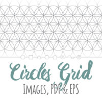Overlapping Circles Grid Images, PDF & EPS