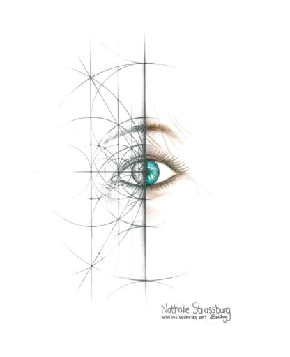 Nathalie Strassburg Intuitive Geometry Human Eye Art