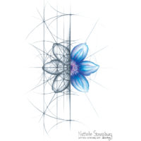 Original Intuitive Geometry Clematis Flower Art
