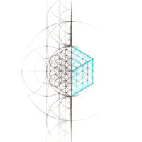 Original Intuitive Geometry Cube Art