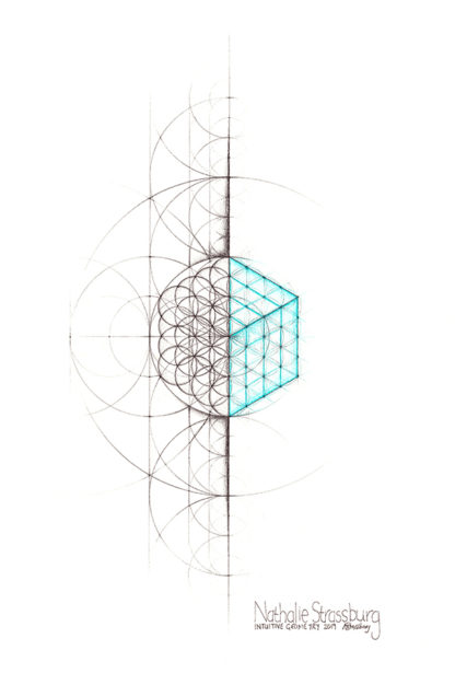 Nathalie Strassburg Intuitive Geometry Cube Art