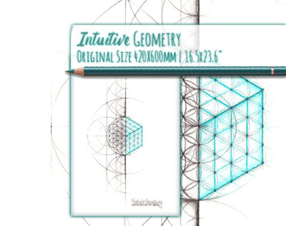 Nathalie Strassburg Intuitive Geometry Cube Art life size