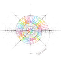 Original Intuitive Geometry I Ching Art