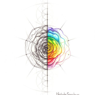 Nathalie Strassburg Intuitive Geometry Rose Art