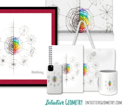 Nathalie Strassburg Intuitive Geometry Rose with steps Art prints and products