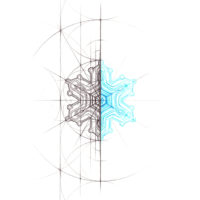 Original Intuitive Geometry Snowflake Art
