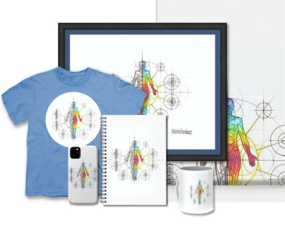 Nathalie Strassburg Intuitive Geometry Human Anatomy Art - Body Art Prints and Products