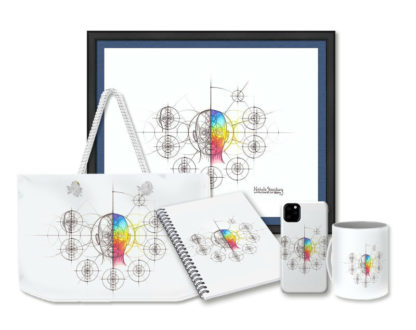 Nathalie Strassburg Intuitive Geometry Human Anatomy Art - Head Face Art Prints and Products