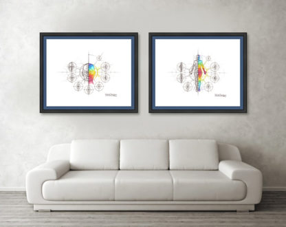 Nathalie Strassburg Intuitive Geometry Human Anatomy Art Prints