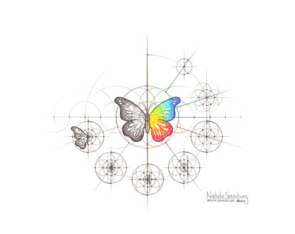 Nathalie Strassburg Intuitive Geometry Butterfly Art