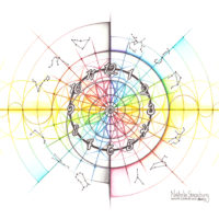 Original Intuitive Geometry Time Art