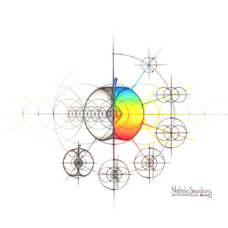 Nathalie Strassburg Intuitive Geometry Apple with steps Art