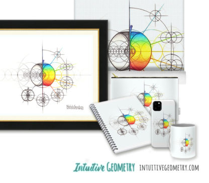 Nathalie Strassburg Intuitive Geometry Apple with steps Art prints and products