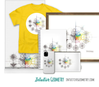 Nathalie Strassburg Intuitive Geometry Bee with steps Art prints and products