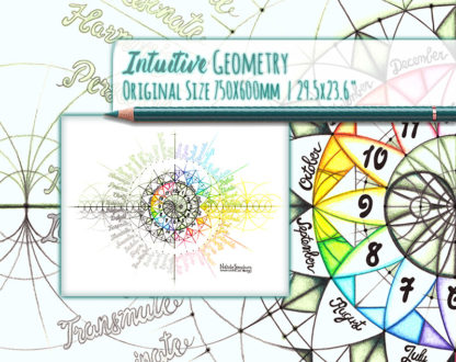 Nathalie Strassburg Intuitive Geometry Annual Calendar 12 Hour Clock 12 Months 48 Emotion Themes Art life size
