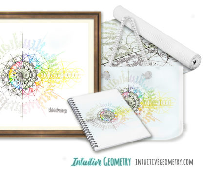 Nathalie Strassburg Intuitive Geometry Annual Calendar 12 Hour Clock 12 Months 48 Emotion Themes Art prints and products