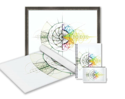 Nathalie Strassburg Intuitive Geometry Crystallography 24 Cell Geometry Art Prints and Products