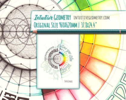Nathalie Strassburg Intuitive Geometry Inspirational artwork - Follow your Bliss life size