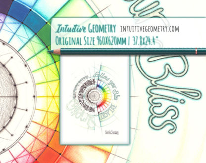 Nathalie Strassburg Intuitive Geometry Inspirational artwork - Follow your Bliss life size 3