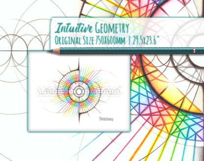 Nathalie Strassburg Intuitive Geometry The Intuitive Self and Personality Matrix Art life size