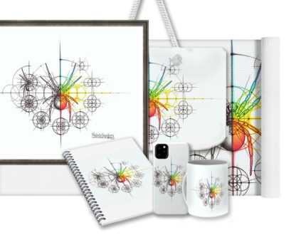 Nathalie Strassburg Intuitive Geometry Spider with steps Art Prints and Products