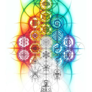 Nathalie Strassburg Original Intuitive Geometry Banner Art with line phase