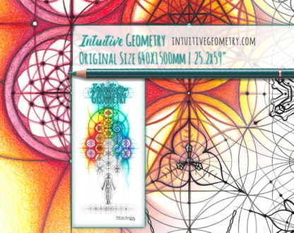 Nathalie Strassburg Intuitive Geometry Banner Art with line phase life size