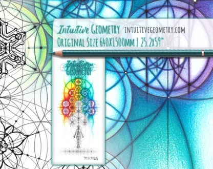 Nathalie Strassburg Intuitive Geometry Banner Art with line phase life size 2