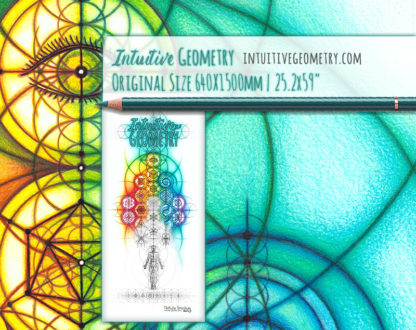Nathalie Strassburg Intuitive Geometry Banner Art with line phase life size 3