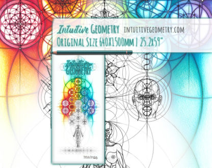 Nathalie Strassburg Intuitive Geometry Banner Art with line phase life size 5 - 50% scale