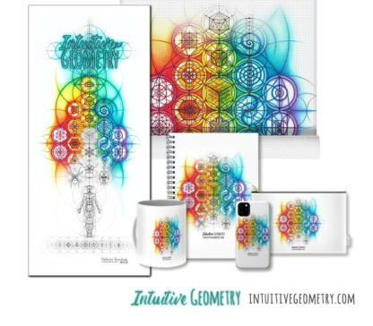 Nathalie Strassburg Original Intuitive Geometry Banner Art print and products