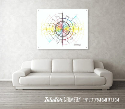 Nathalie Strassburg Intuitive Geometry Time Art Prints