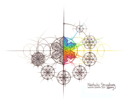 Nathalie Strassburg Intuitive Geometry Snowflake with steps Art