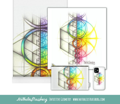 Nathalie Strassburg Intuitive Geometry Spectrum Aspire Art Prints and Products