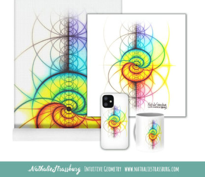 Nathalie Strassburg Intuitive Geometry Spectrum Wave Yin Yang Art prints and products
